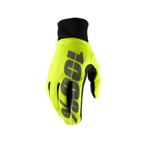 100% Hydromatic Waterproof Glove Neon Yellow